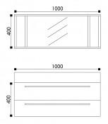 Koupelnový nábytek HOPA T1000 - zrcadlo - sv. dub