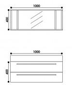Koupelnový nábytek HOPA T1000 - zrcadlo - bílá lesklá
