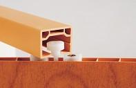 Plastové shrnovací dveře PIONEER 84 x 203 cm - detail jezdce