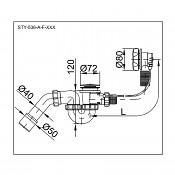 Odtokový komplet OLSEN SPA STY-536-A-K chrom