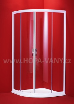 OLSEN SPA Barcelona 90 x 90 cm + HOPA Sofia 90 - bílý rám / čiré sklo
