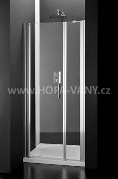 HOPA Duo 98 - 102 cm - bílá / čiré sklo - levá